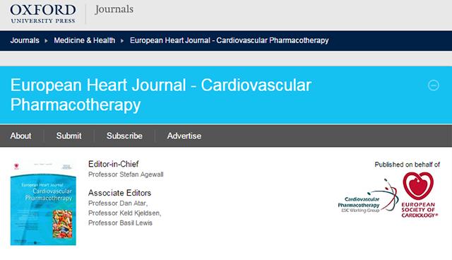 European Heart Journal Cardiovascular Pharmacotherapy